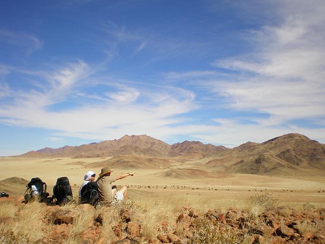 Trek dans le désert namibien - repos au Tok Tokkie trails