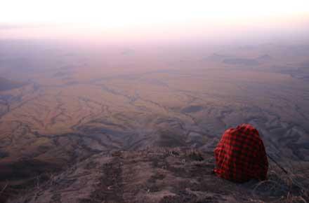 Trek sur l'Oldoinyo Lengai - vue depuis le Lengai