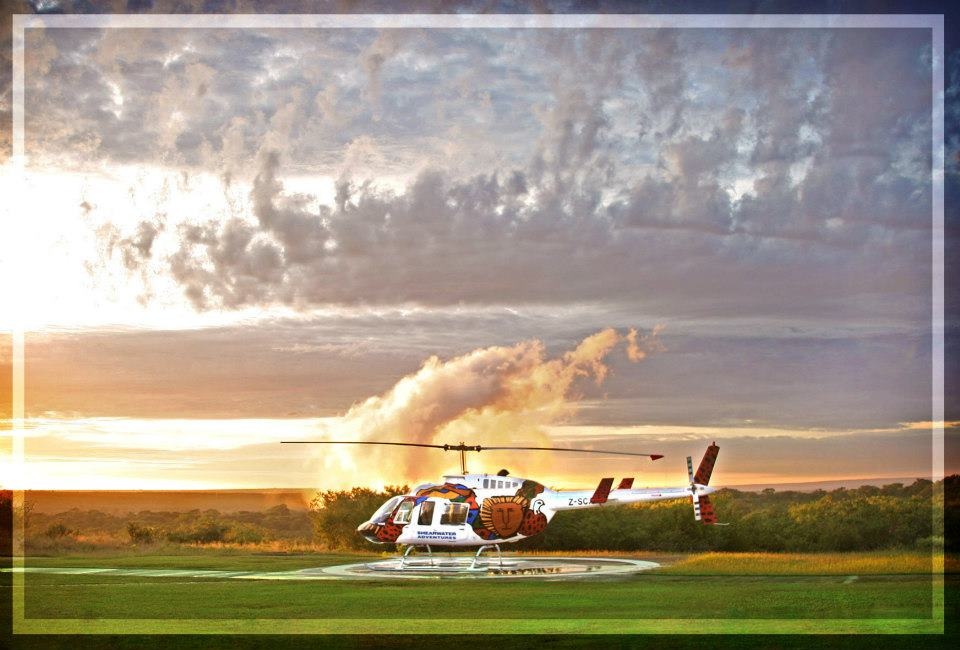 Survolez les chutes Victoria en hélicoptère - départ