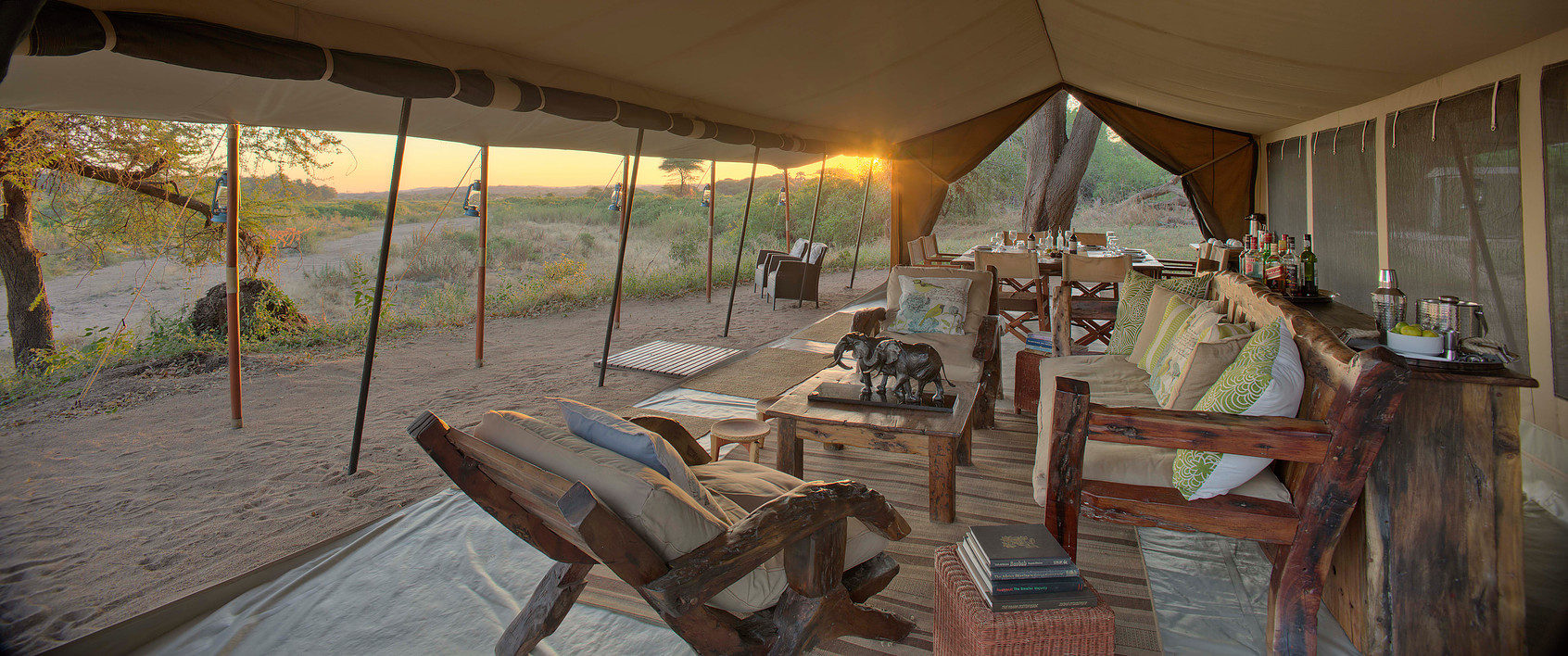 Safari à pied à Ruaha - tente Kichaka Expeditions