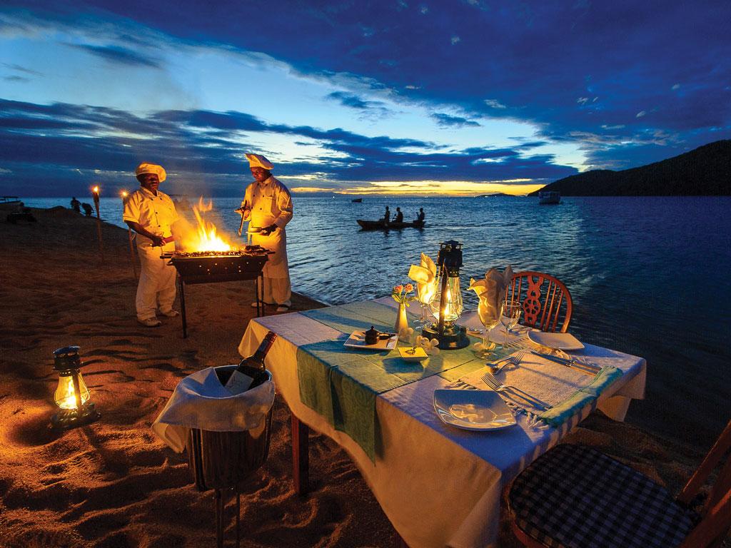 Croisière au Malawi - repas