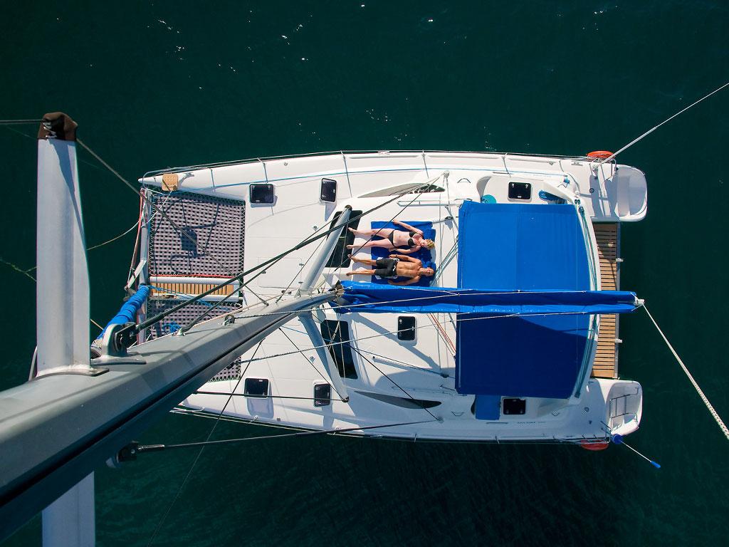 Croisière au Malawi - vue du yacht Mufasa