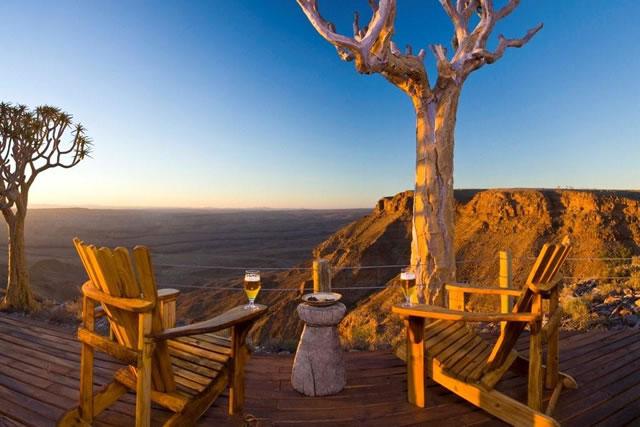 Safari Namibie Beauté Sauvage - vue du Fish River lodge