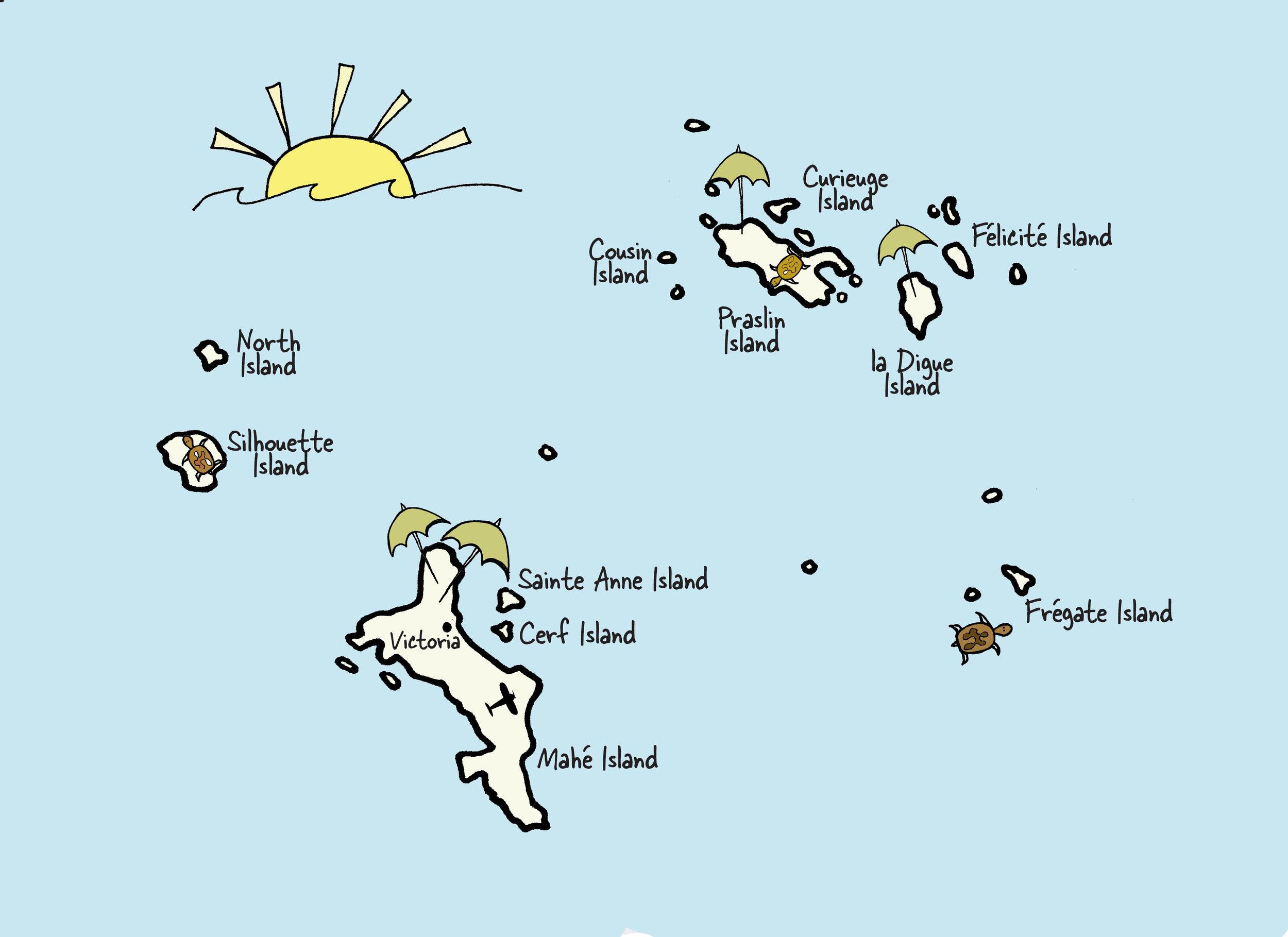 les seychelles carte