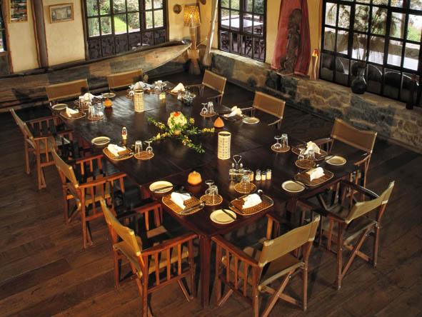Salle à Manger Virunga Lodge