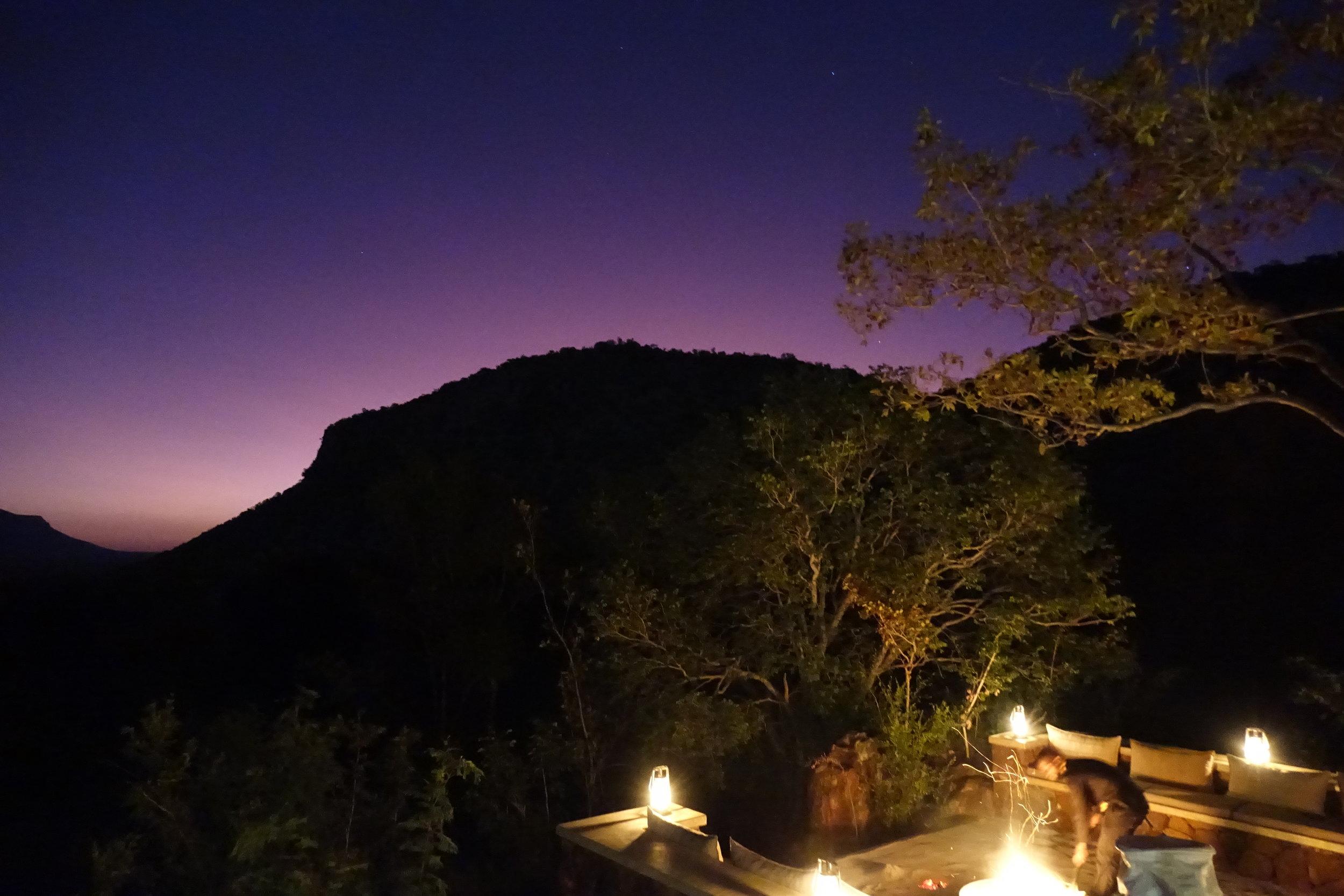 Coucher de soleil sur Marataba