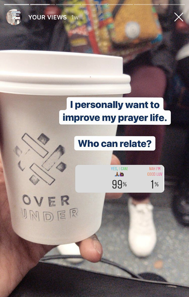 99% millennials want to improve their prayer life and get to grips with everything. Research done by Abiola Babarinde on millennial attitudes towards religion. Author of Take What You Need