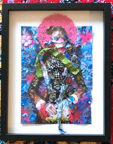 The Jean Genie, framed in shadowbox