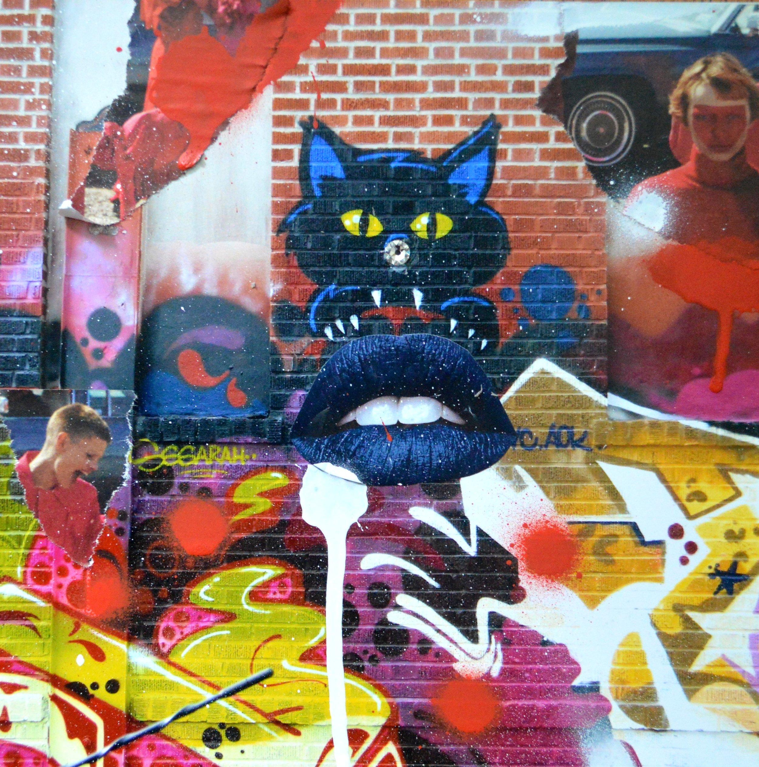 Photo, 2013, Bronx, NY. Mixed media art design 2016.