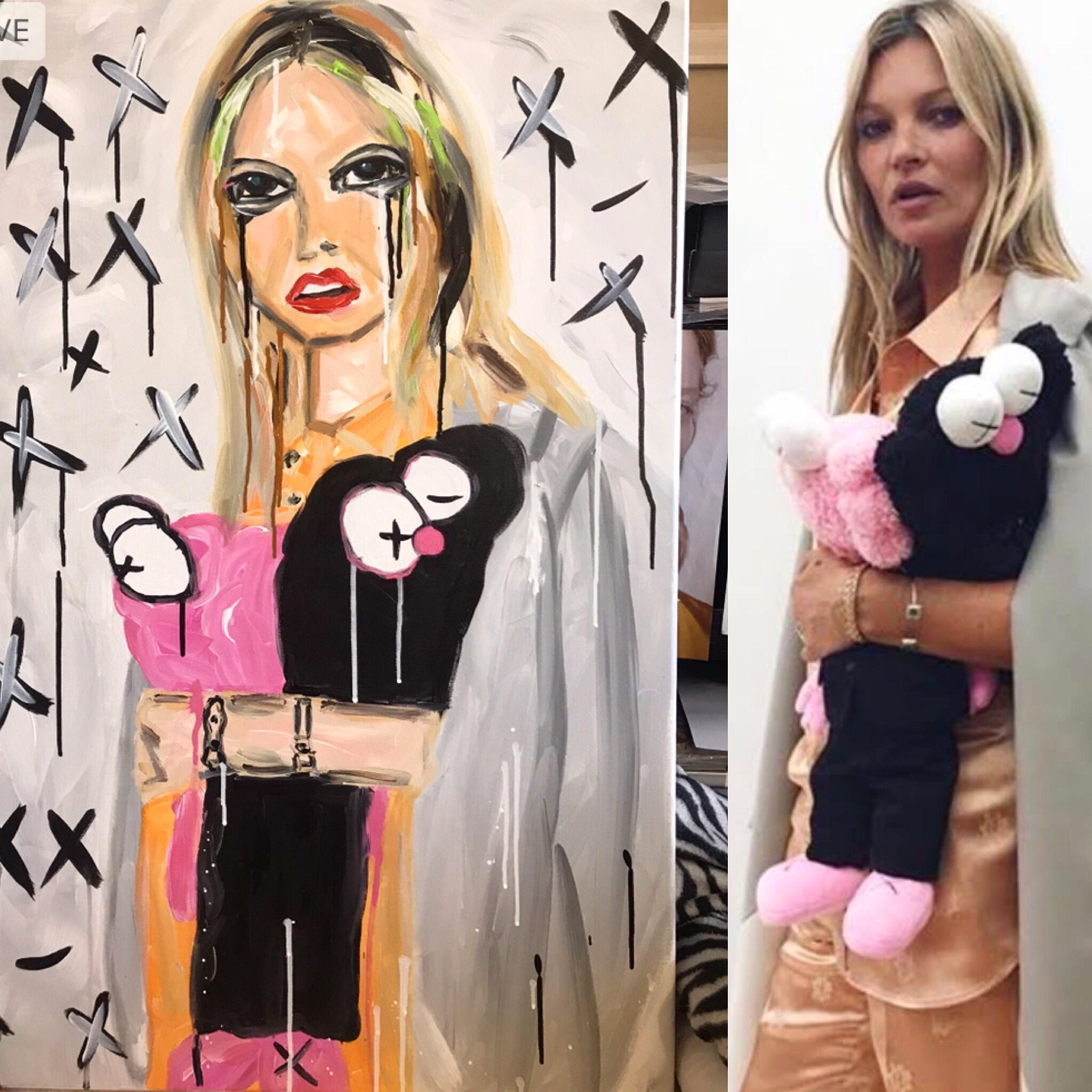 Kaws x Dior X Kate Moss