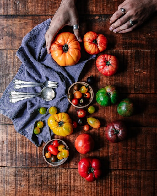 Choose juicy, fragrant tomatoes but don't be afraid to use the mushy ones for sauces.