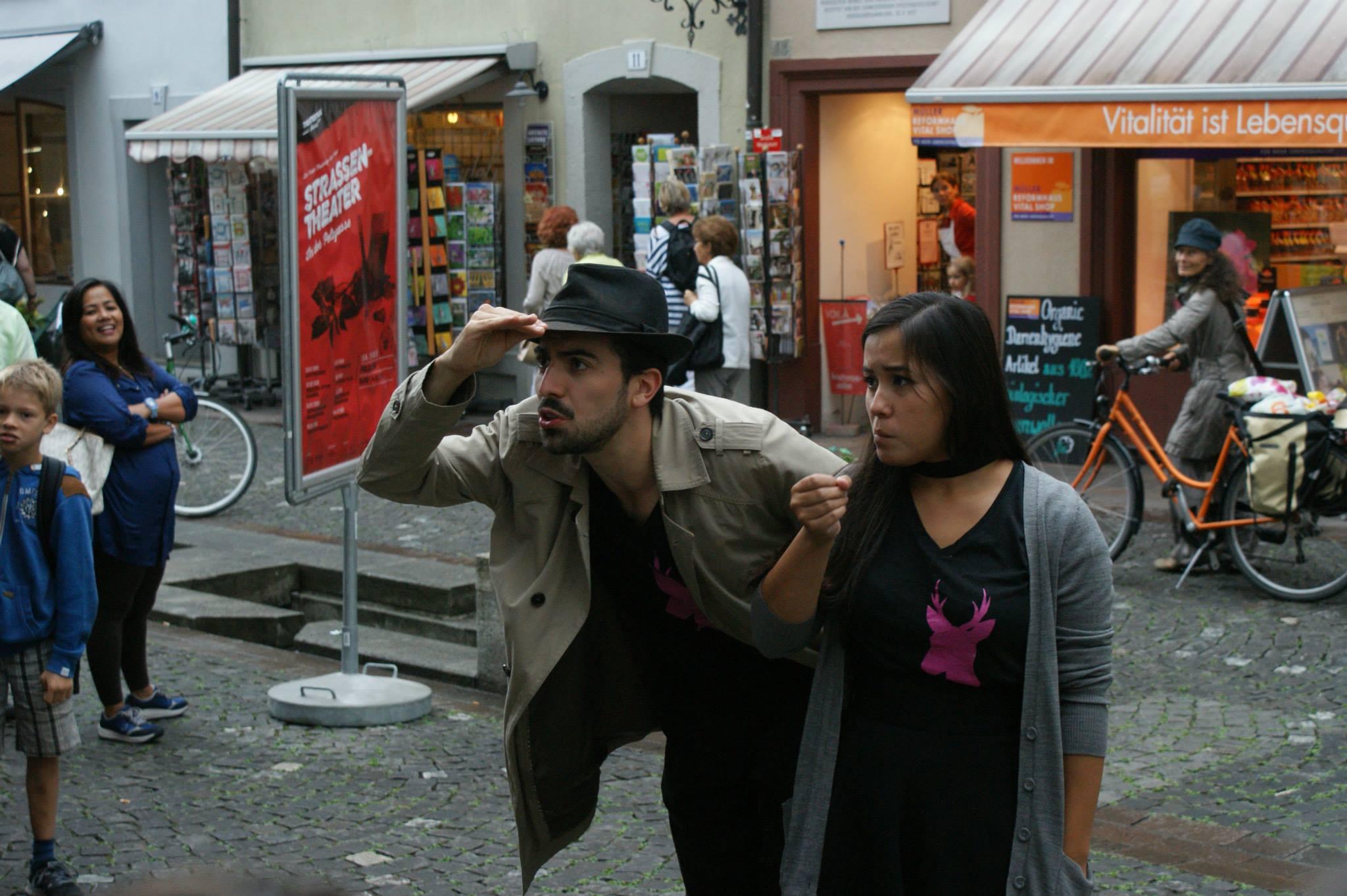 Mit meiner Improvisationsgruppe 'Hirschwahn' an den Aarauer Theatertagen.