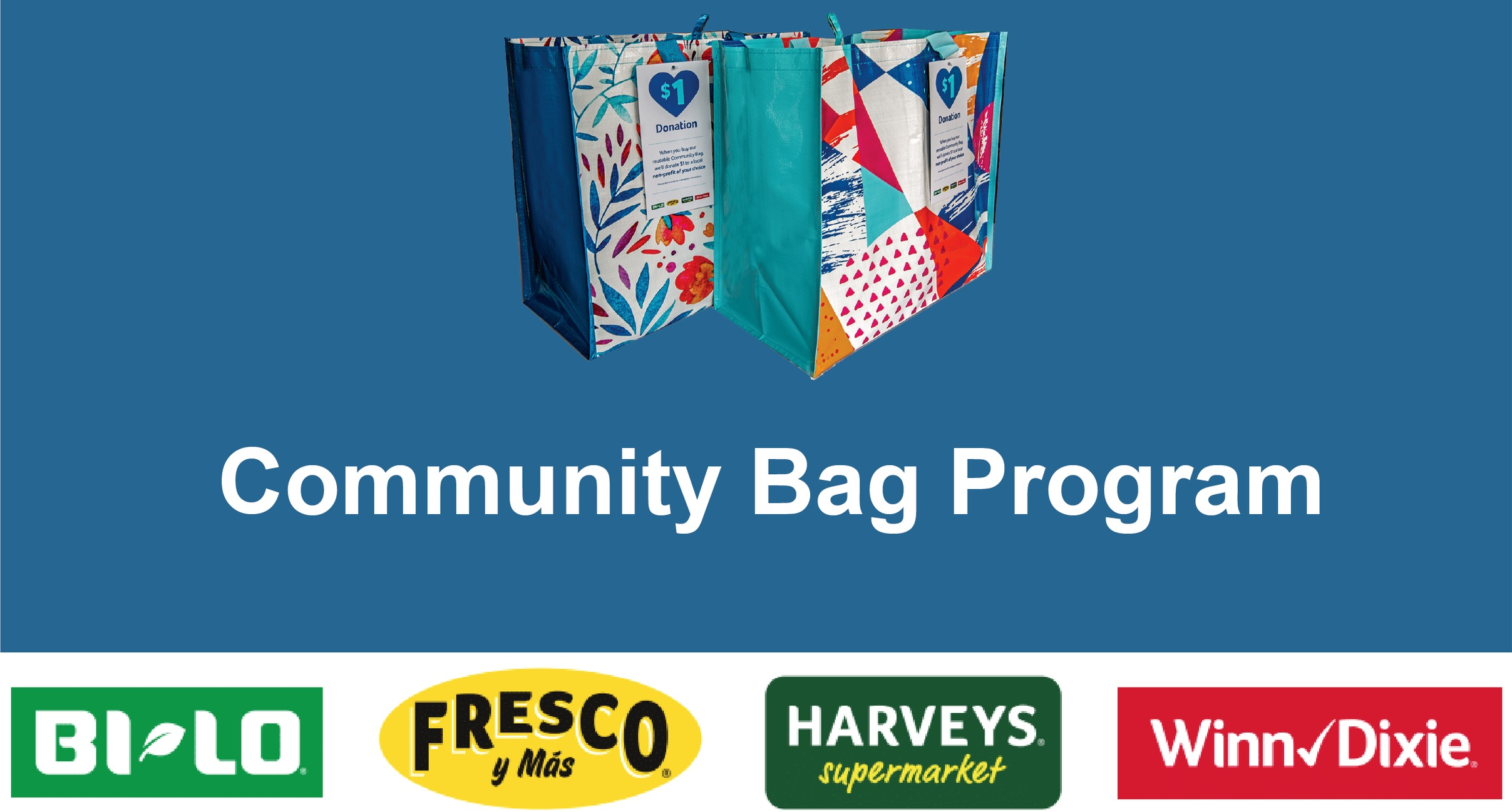 That's My Child will receive a  $1  donation every time a $2.50 reusable Community Bag is sold during the month of June   at the store located at:   Winn-Dixie 7946 Vaughn Road, Montgomery AL