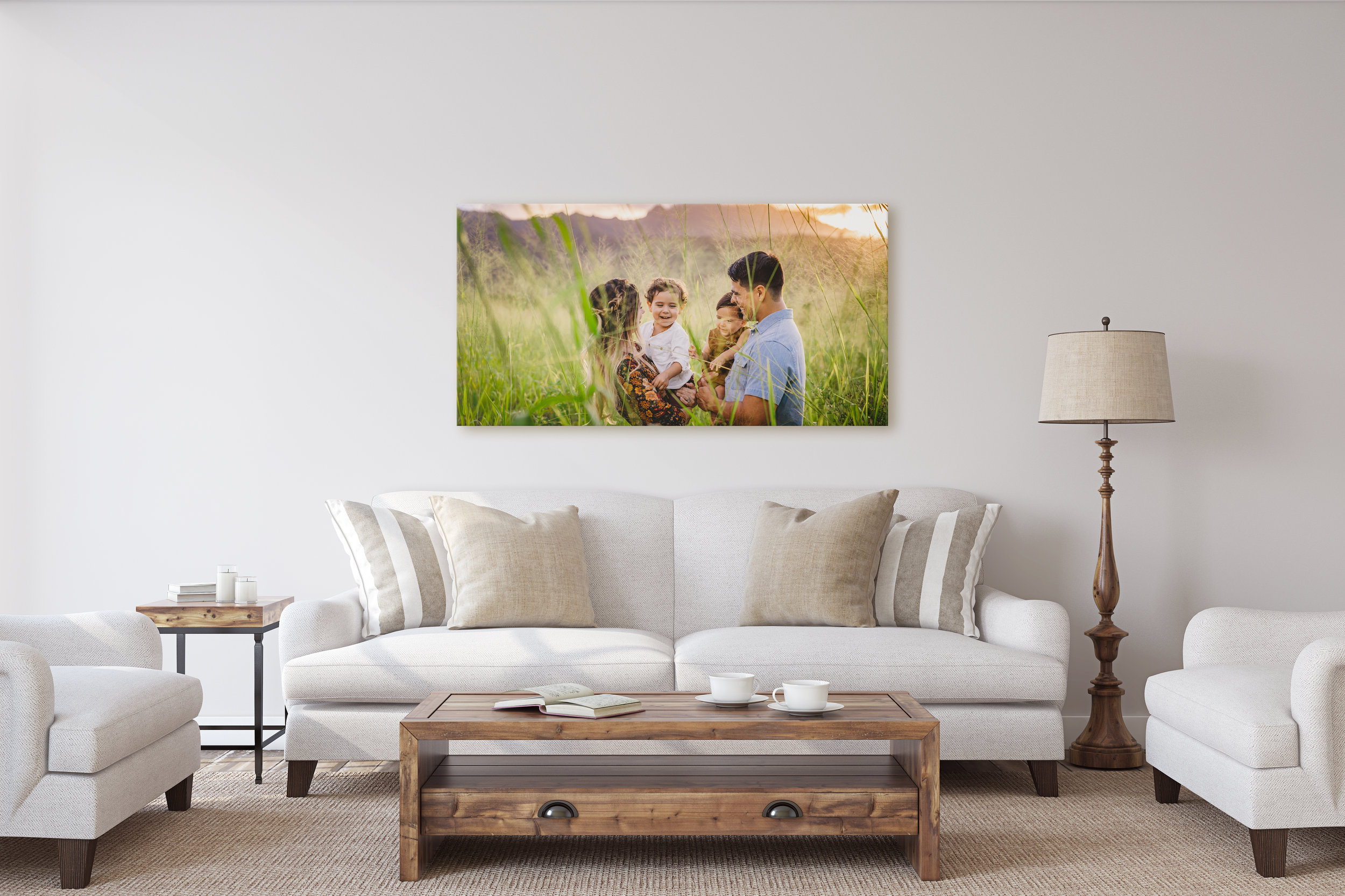Wailua Hawaii Family Session Wall Art Mockup