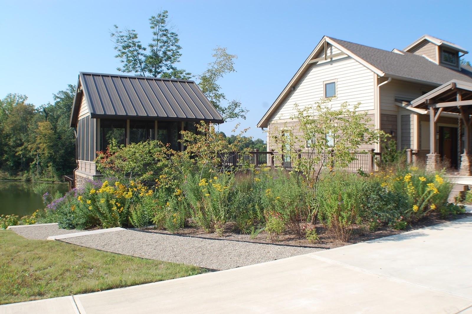 native plant landscape in Greencastle Indiana 2