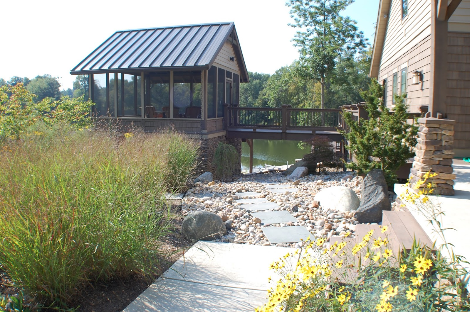 native plant landscape in Greencastle Indiana 3