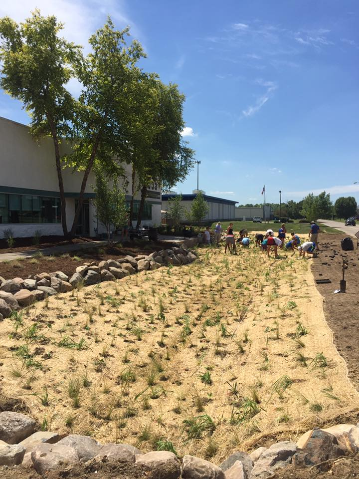 The staff of TF Publishing came out to help plant. It was great to work with them!