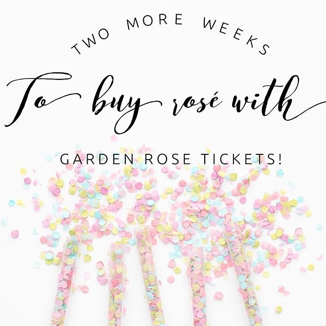 Just two more weeks to get your tickets to Rosé with Garden Rose Round two! 🍷This is going to be an event you don't want to miss! Link in bio • • • #weddingplanningworkshop #weddingplanning #roséwithgardenrose #gardenroseevents #rwgr #roséwithgardenroseround2 #yeswayrosé #sippinwinefeelinfine #bridalshow #eventforbrides #gardenparty #gardenwedding #blueridgemountains #virginiaweddings #isaidyes #hepoppedthequestion #justengaged💍