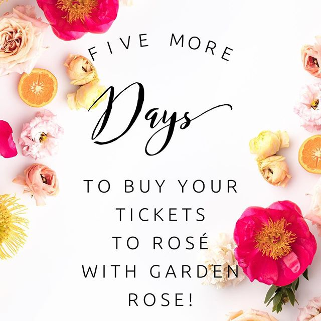 Only a few more days to purchase your tickets to Rosé with Garden Rose Round 2! Head to the link in our bio! • • • #roséwithgardenrose #yeswayrosé #roséwithgardenroseround2 #rwgr #rwgrround2 #hepoppedthequestion #sippinwinefeelinfine #isaidyes #blueridgemountains #weddingplanningworkshop #helpingyouplanyourwedding #weddingplanning #gardenroseevents