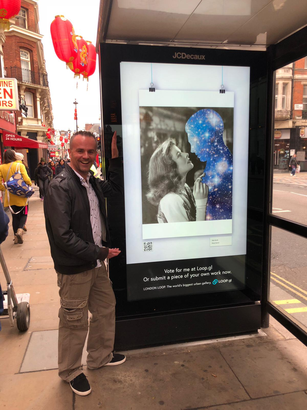London billboard artwork - I was lucky enough to have some of my handcut collage artwork featured on several digital billboards around London. A great opportunity for up and coming artists to show their work to the general public. Thank you for your support!