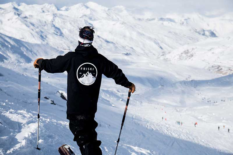 Looking out at the white peaks of Val Thorens.