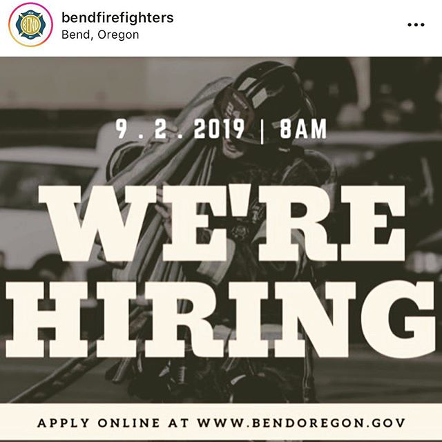 @bendfirefighters are hiring! Go apply at linktr.ee/bendfirefighters or the link in their Bio!🔥🔥🔥 #fire #firefighter #bend #oregon #ffprovinggrounds #nationalfireradio #topscore #career