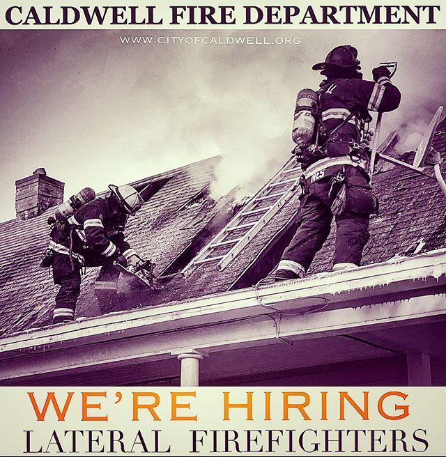 🔥Caldwell Fire is hiring lateral FF's 🔥 @caldwellfireidaho #fire #firefighter #ffprovinggrounds #flowandvent #firereviews #nationalfireradio #topscore #interview #jobs #insta