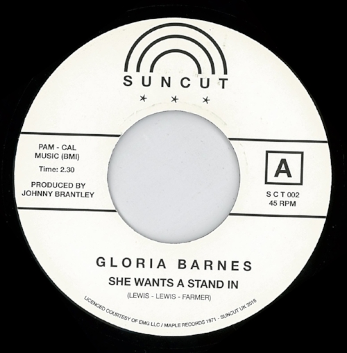 GLORIA BARNES    A - SHE WANTS A STAND IN B - YOU DON'T MEAN IT