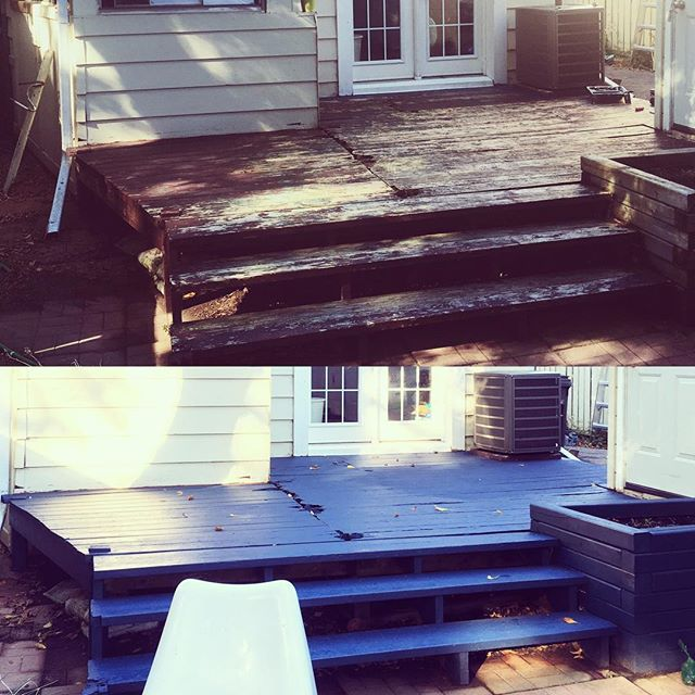 Looking to sell your house or just ready for a change? We can spruce up that deck for you! . . . #deckmakeover #torontorealestate #fallforus #thathandygal