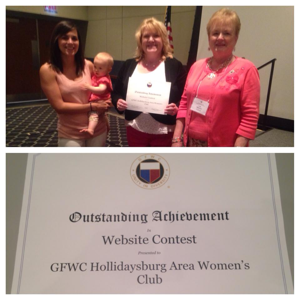 GFWC INTERNATIONAL AWARDS announced - GFWC Hollidaysburg Area Women's Club Outstanding Achievement/Club Creativity Award Website Contest!