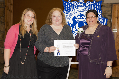 WOMEN'S CLUB RECEIVES TOP HONORS AT STATE CONVENTION pictured from left: Jamie Baser, Trish Hoyne, Vicky Ann Trimmer