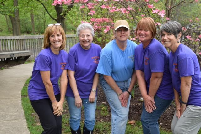 Our Clubwomen volunteer their time at the Discovery Garden with other community members. Come join the fun! Pictured from left: Amy Cyman, JoAnn Propcheck, Leslie Smith, Sue Stoltz, and Karen Claton