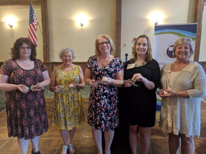 Pictured from left: Vickie Lathero, JoAnn Propcheck, Kristi Biltz, Andrea Verobish, and Mary Jo Lanzel. Absent: Donna Malone
