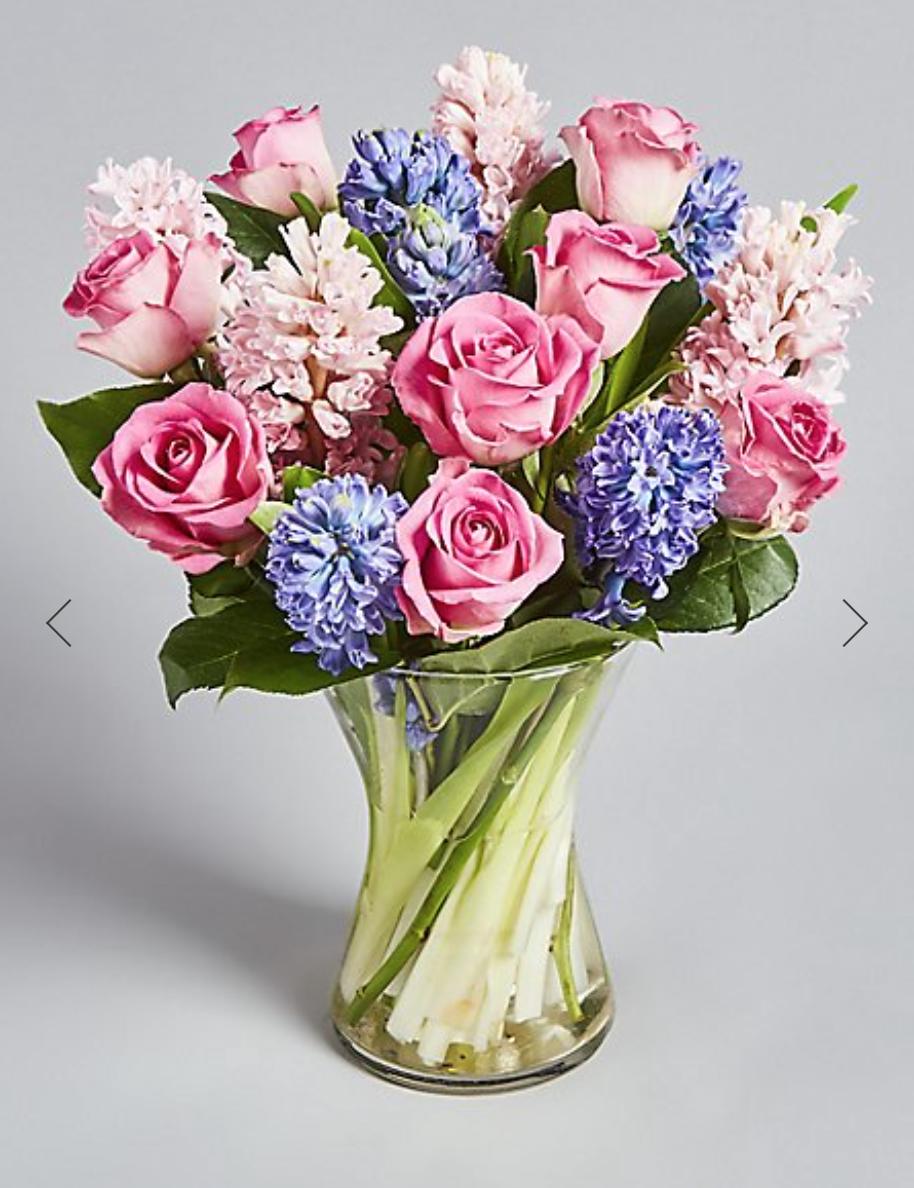 Rose & Hyacinth Bouquet - £35.00