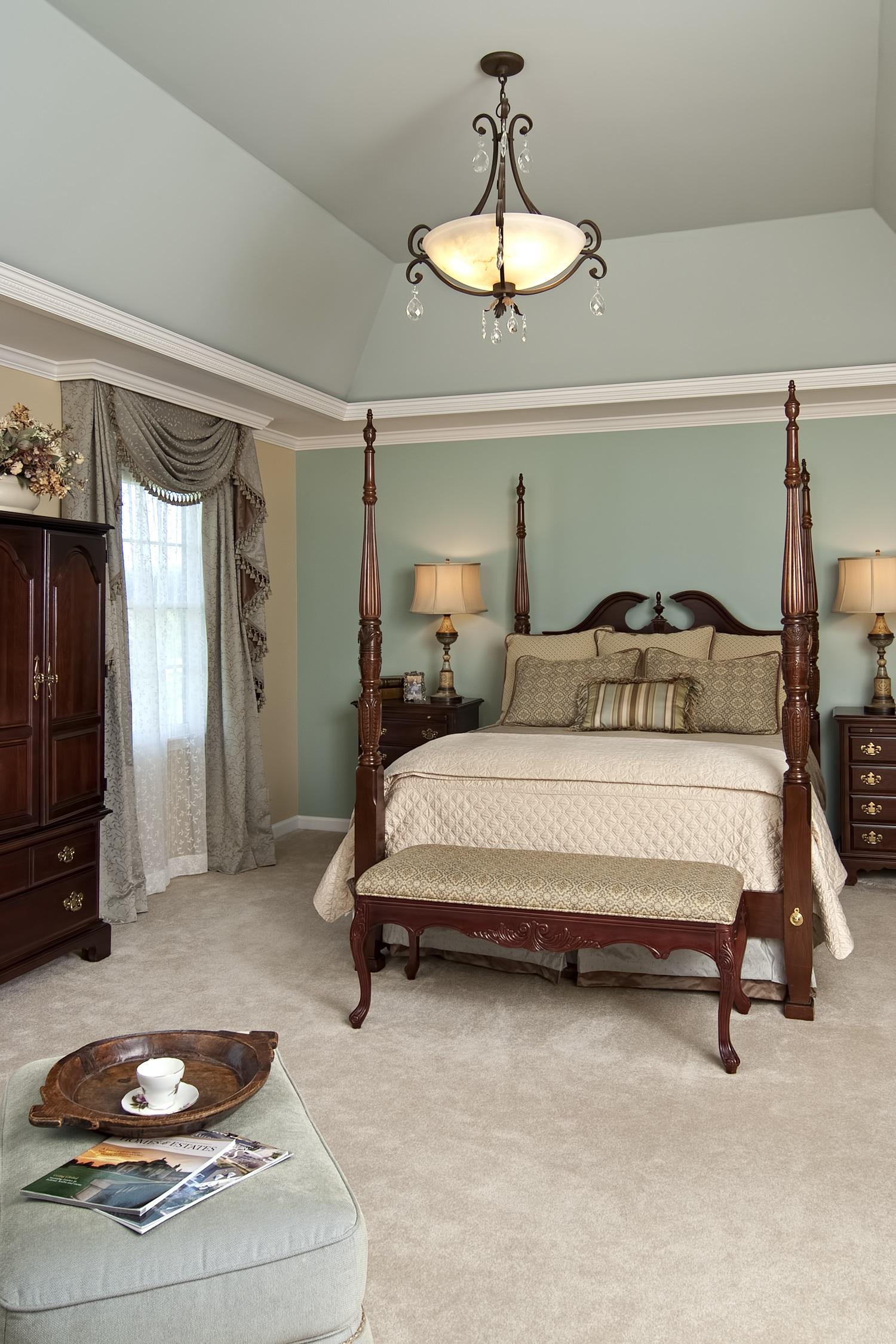 Bailiwick Interior Design - Molding Details - Tray Ceiling Master Bedroom - Accent Walls.jpg