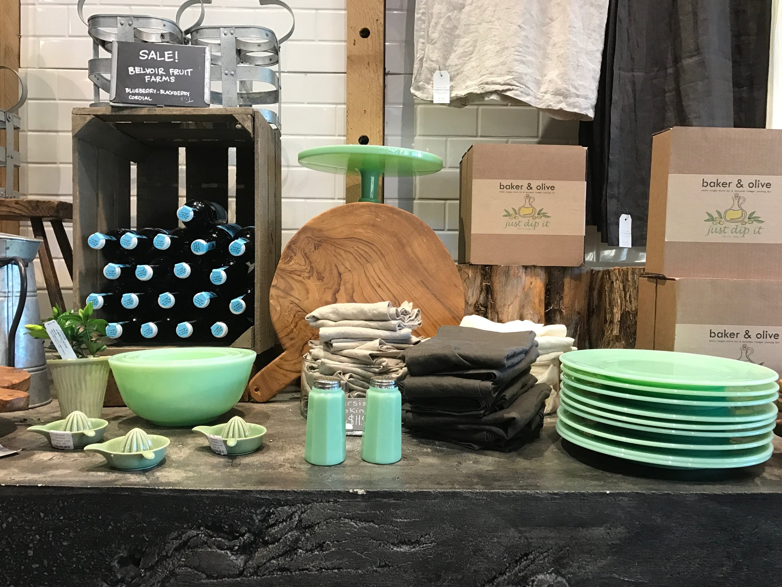 I was in Tiffany Blue, Vintage, and Interior Design heaven...all in one place.
