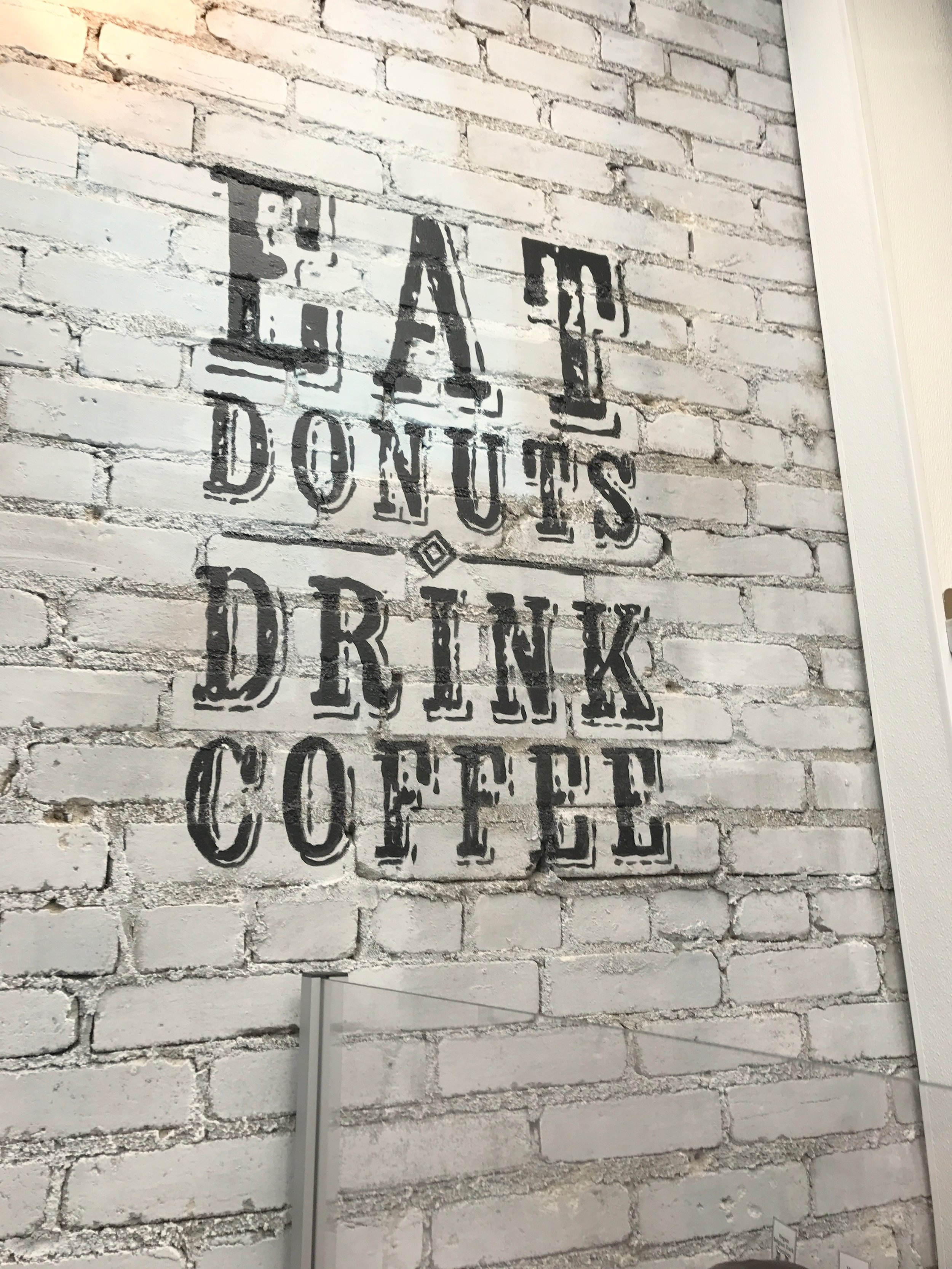 A little weekly inspiration from the wall art in Union Square Donuts