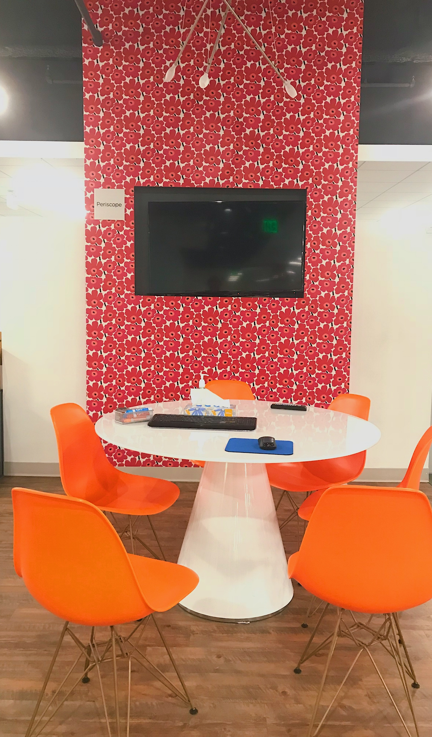 I even loved this office. You know you have a great seat when there's a Marimekko wall you get to look at ;).
