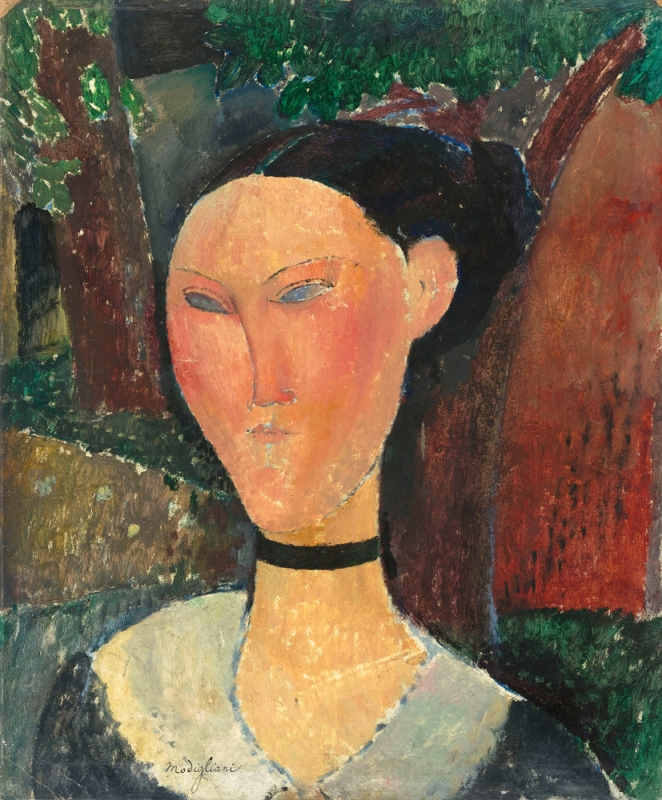 11) Woman with Velvet Ribbon, 1915