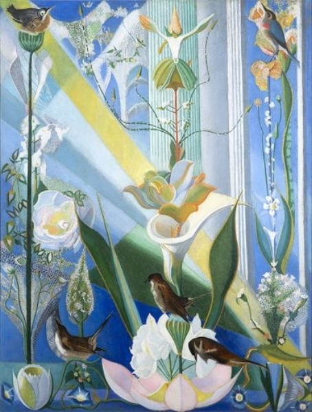 Joseph Stella,  Dance of Spring (Song of the Birds) , 1924, 43 3/8 x 32 3/8 inches. Kemper Museum of Contemporary Art, Kansas City, MO. Included in a group exhibition at the Dudensing Galleries in October 1924,  Dance of Spring  was sold by Valentine Dudensing to New York collector Adolph Lewisohn in April 1926.