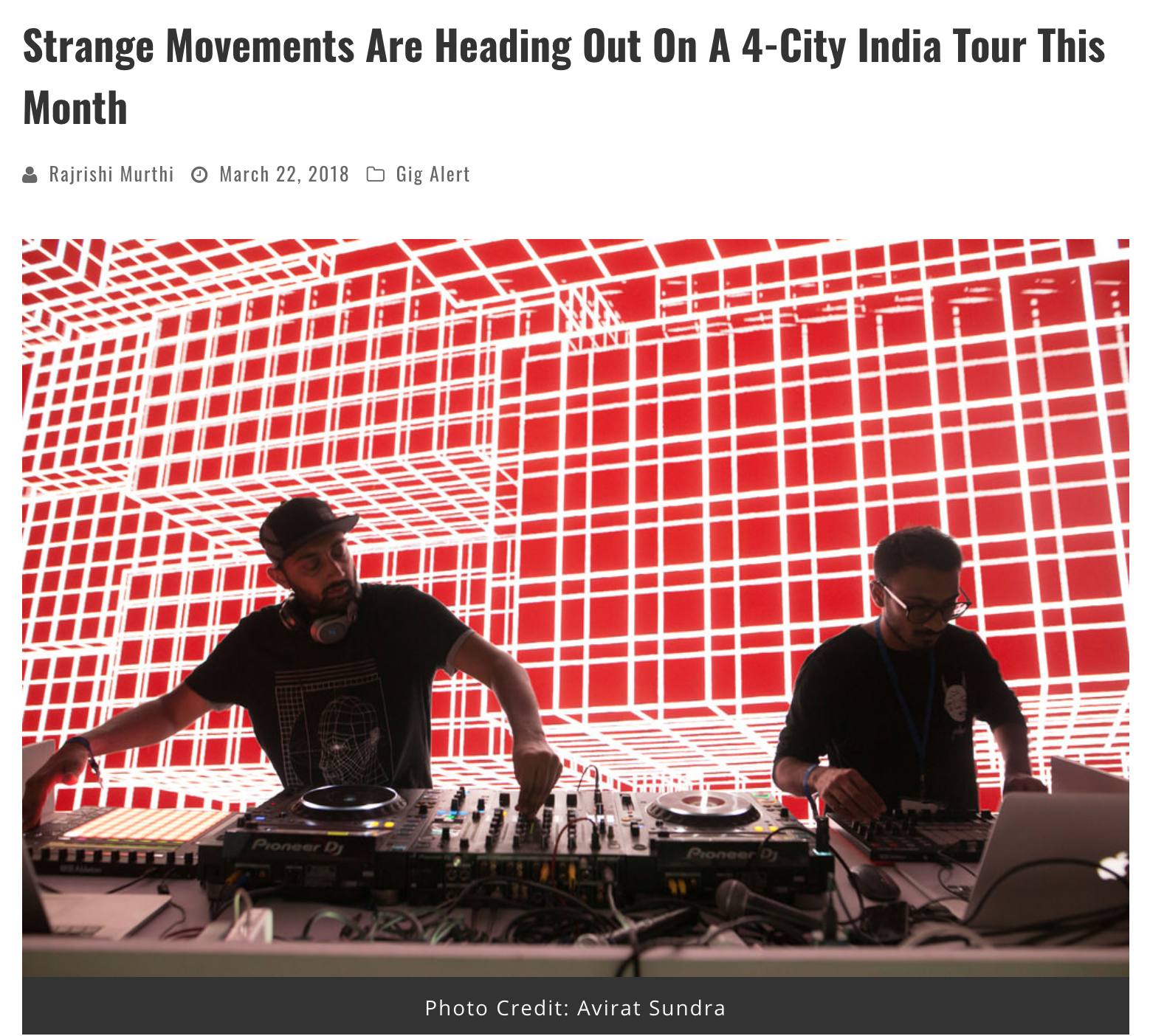 Banging Beats : Strange Movements Tour