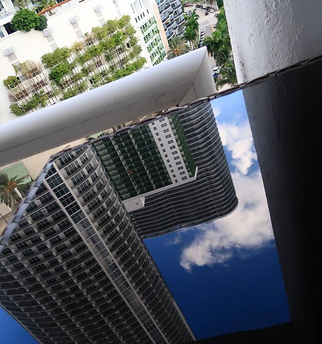 Different point of view!  #reflection #building #sky #beachtown