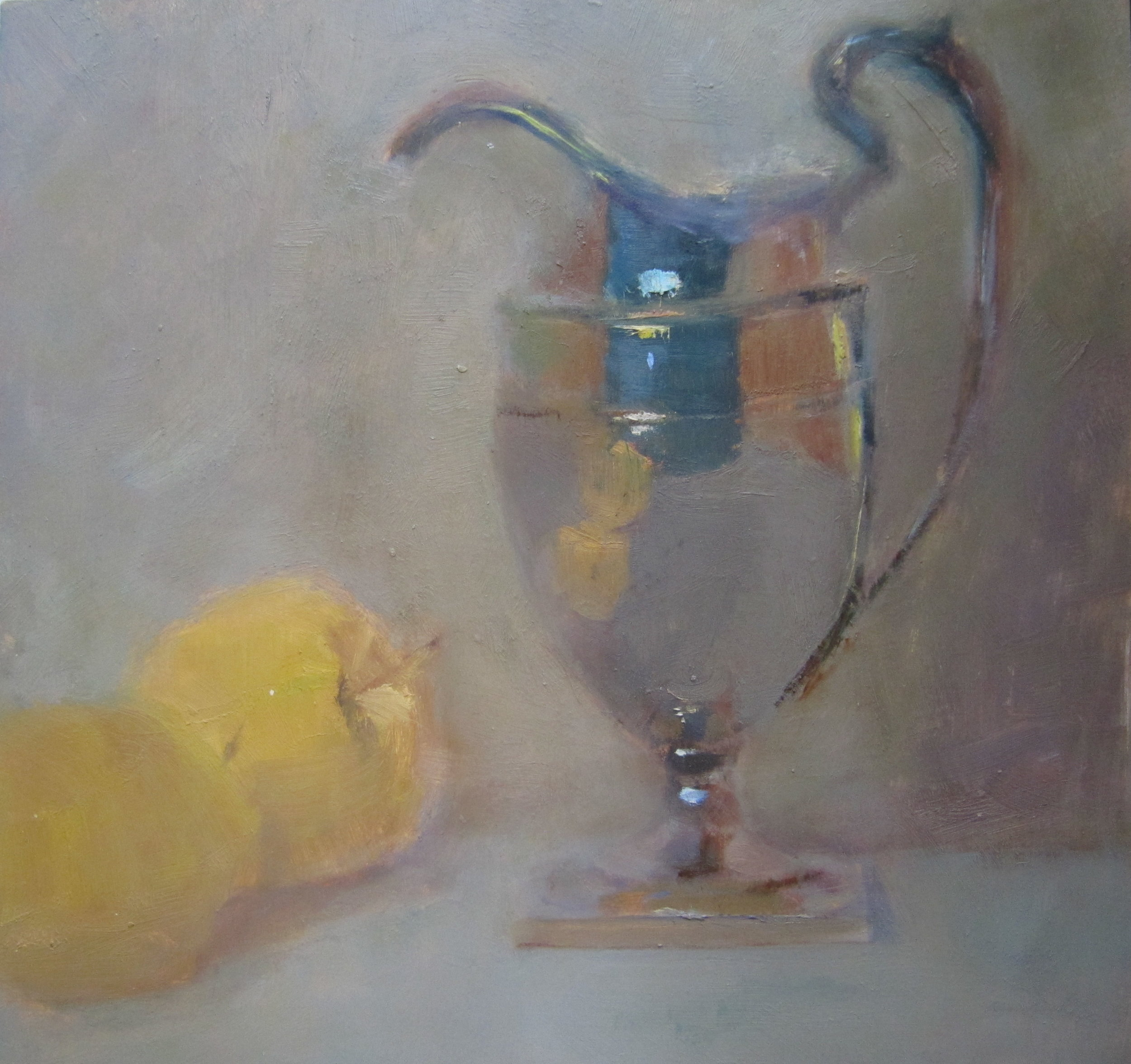 Silver Pitcher and Apples.JPG