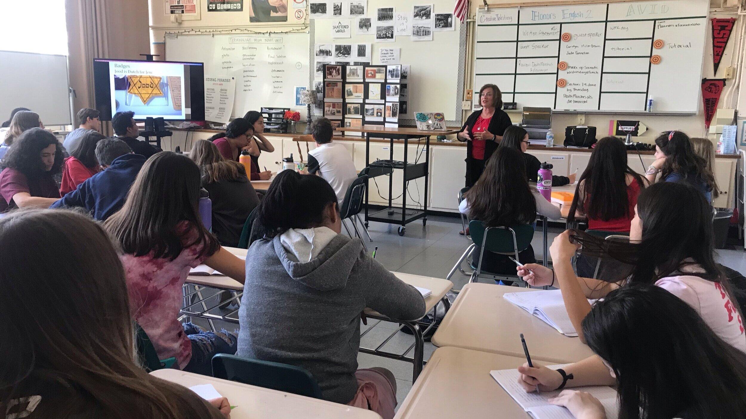 2nd Gen speaker Judie Panneton at El Camino High School