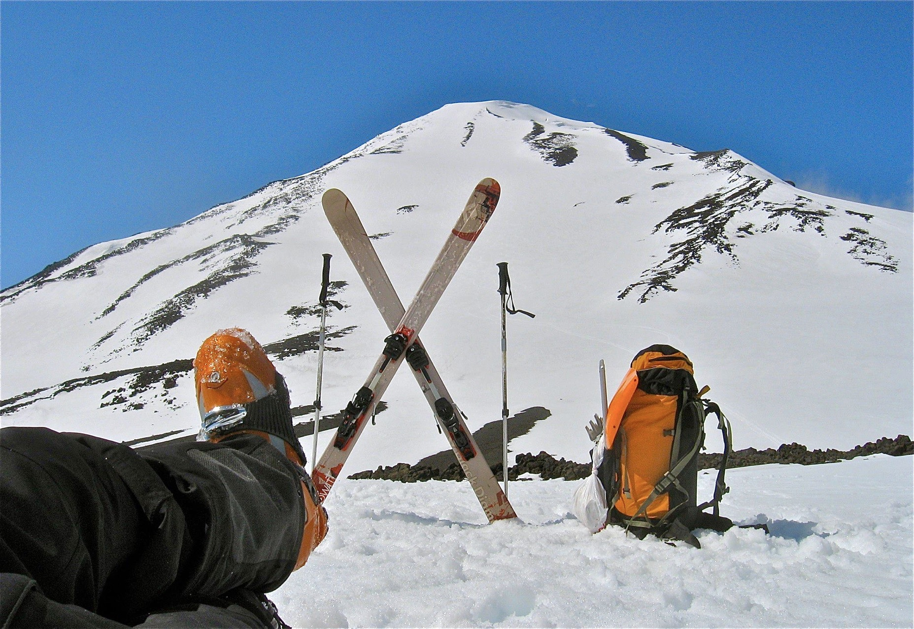 Ski Touring on Mt. Adams, WA