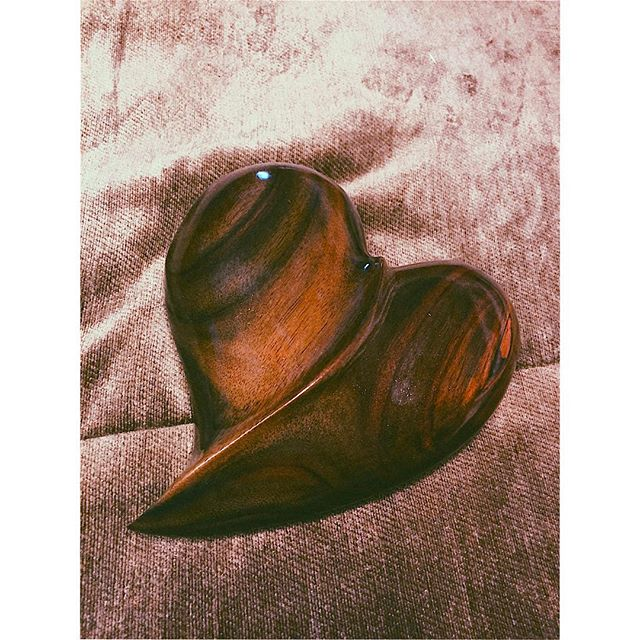 Another one of my new hearts #hearts #tropicalwood #carving