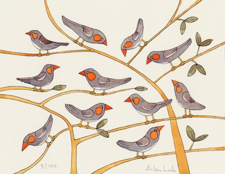 FINCHES  Print - $130 -  Buy Here   Framed - $430 -  Buy Here
