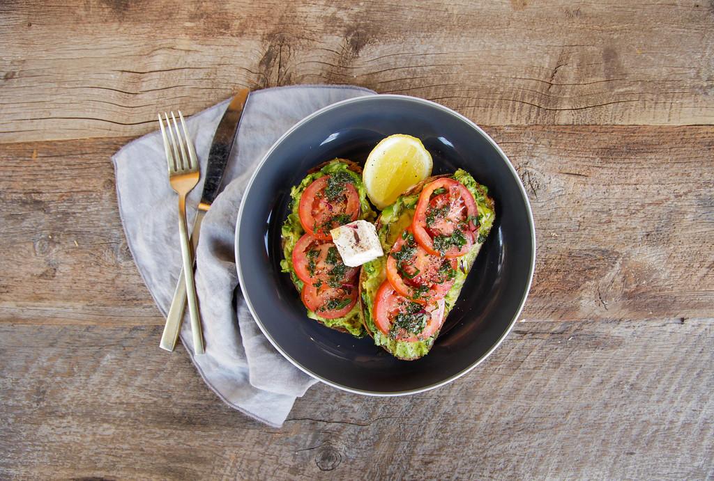Tomato and avocado toast