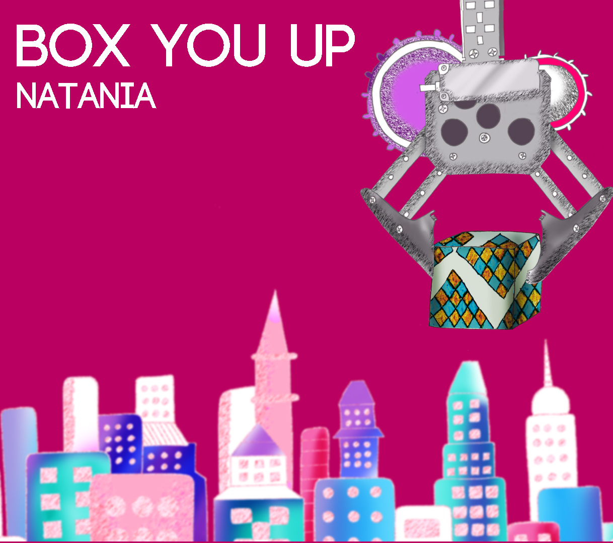 Box You Up Natania Lalwani  I've been going crazy lately with all these feelings I've got filled up inside me need to get them out need to get them out need to get rid of them without a doubt  Got me keys got my car I'm heading down to the UPS store Need some cardboard to fill my heart's up to the brim It's about to spill  Chorus I'm gonna box you up I'm gonna box you up Make sure they remember if undeliverable don't return to sender I'm gonna box you up I'm gonna box you up Maybe it'll ship across the sea maybe you'll find someone you'll meet oh oh oh oh oh oh oh  So she'll find the box and she'll open it up get so flustered she ties to a knot she knows these feelings won't work on anyone else and she doesn't even wanna settle for less  So she'll find you and you'll find here telling you the things you been wanting to hear you'l fall too and be happy and I'll be happy for you  Chorus  And yes you give me feelings they write about the movies the stories we read about  but if I don't tell you you'll never know and if you never know I'll never get hurt and if I never get hurt it'll be easy to let you go  Chorus