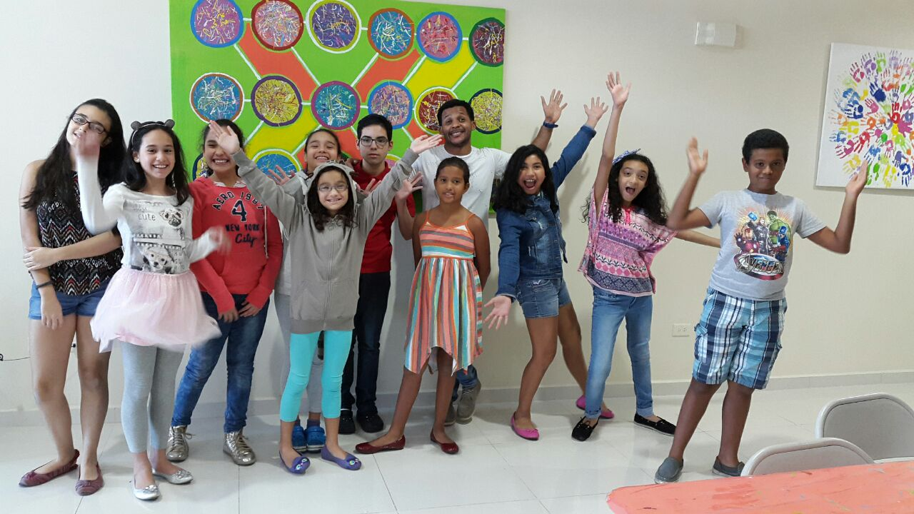 Foto con el grupo el último día del taller.